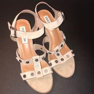 Steve Madden Beige Melle Sandals Heels Womens 6.5